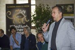För monica för chefalberola filmfestival europé Arkivfoton