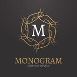 För monogramdesign för vektor stilfull elegant mall för logo Arkivfoton