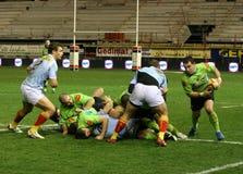 för montauban för 14 match usap för överkant rugby vs Arkivfoto