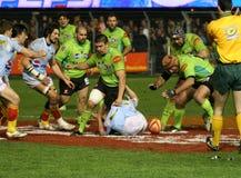 för montauban för 14 match usap för överkant rugby vs Royaltyfri Fotografi