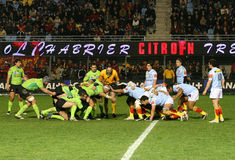 för montauban för 14 match usap för överkant rugby vs Royaltyfria Foton
