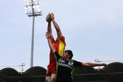 för montauban för 14 match usap för överkant rugby vs Arkivbild