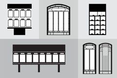 F?r monumenttecken f?r kontor som yttre signage f?r tecken f?r pylon annonserar konstruktion illustration 3d stock illustrationer