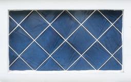 För mosaiklergods för blå tegelplatta glansig bakgrund för material Royaltyfria Foton