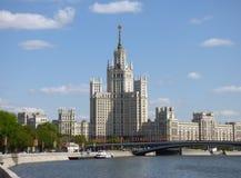 för moscow för buildig hög sikt panorama Arkivfoto