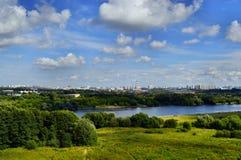 för moscow för buildig hög sikt panorama Arkivfoton