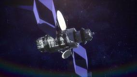 för moscow för cosmonautics minnes- avstånd för satellit museum royaltyfri illustrationer