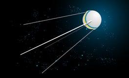 för moscow för cosmonautics minnes- avstånd för satellit museum Arkivbild