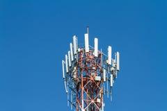 för moscow för områdesstadsdmitrov vinter för torn för telekommunikation natt Royaltyfria Foton