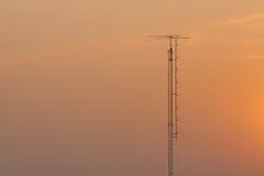 för moscow för områdesstadsdmitrov vinter för torn för telekommunikation natt Arkivbilder