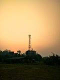 för moscow för områdesstadsdmitrov vinter för torn för telekommunikation natt Royaltyfri Bild