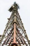 för moscow för områdesstadsdmitrov vinter för torn för telekommunikation natt Arkivfoton