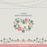 För Motherss för tappning lycklig bakgrund dag Arkivbild