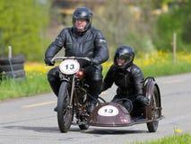 för motorbikesidecar för condor D tappning arkivfoto