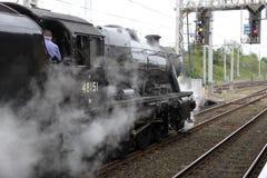 för motornummer för 48151 carnforth ånga för station Royaltyfria Bilder
