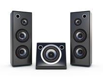 för musikhögtalare för ljudsignal ask mobila telefoner Arkivfoto