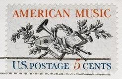 för musikporto för 1964 american tappning för stämpel Royaltyfria Foton