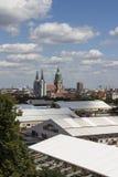 För mycket av de Oktoberfest tälten på Theresienwiese i Munich, 20 Royaltyfri Foto