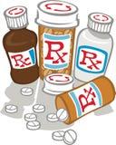 För mycket medicin Royaltyfria Foton