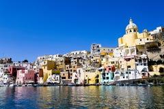 för naples för kust italienskt hav procida Arkivbild