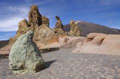 för nationalparkroques för el los teide Arkivbilder