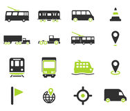 För navigering symboler enkelt Arkivbild
