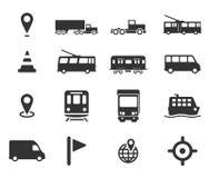 För navigering symboler enkelt Arkivfoto