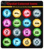 För navigering symboler enkelt Royaltyfri Fotografi