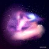 för nebulaavstånd för bakgrund färgrikt universum för stjärna Royaltyfri Foto