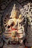 för nepal för forntida changu hinduiskt narayan tempel lättnad Royaltyfria Bilder