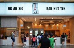 För NG som AH SIO Bak Kut lokaliseras på semesterortvärlden Sentosa Fotografering för Bildbyråer