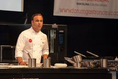 För ngel för kock à Leà ³ n En stjärna Michelin Royaltyfri Foto