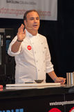 För ngel för kock à Leà ³ n En stjärna Michelin Royaltyfria Foton
