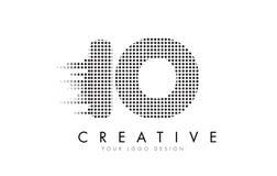 För nolla-bokstav för IO I logo med svartprickar och slingor Royaltyfria Foton