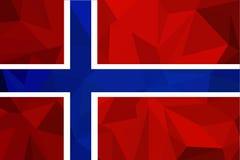 för norway för tillgänglig flagga glass vektor stil Representantfärger och proportion korrekt Nationsflagga av Norge Illustration stock illustrationer