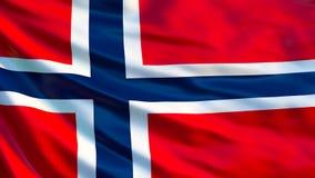 för norway för tillgänglig flagga glass vektor stil Vinkande flagga av den Norge 3d illustrationen royaltyfri illustrationer