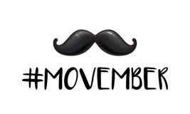 För November för cancer för prostata för man för Movember män vård- mustasch för vektor för månad medvetenhet stock illustrationer