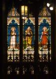 för nycnewpope för domkyrka glass saints nedfläckada york arkivbild