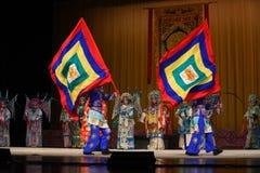 """För Opera"""" för Peking för stridflagga generaler kvinnor av Yang Familyâ € arkivfoton"""