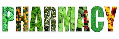` för ord`-apotek göras från medicinalväxter arkivfoto
