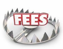 För ordbjörn för avgifter 3d straff för sen betalning för intresse för pengar för fälla royaltyfri illustrationer