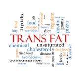 För ordmoln för trans. fett begrepp Arkivbilder