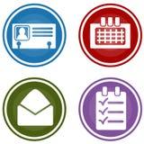 För organisatörmål för personlig affär knappar för modell Arkivbilder