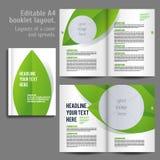 För orienteringsdesign för bok A4 mall Fotografering för Bildbyråer
