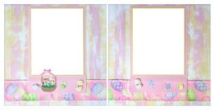 för orienteringsscrapbook för 12 digitalt easter tema x Arkivbilder