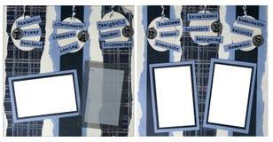 för orienteringssida för 12 fader scrapbook x Royaltyfri Foto