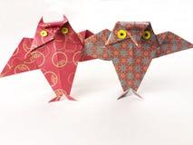 för origamiowl för vänner goda par två Royaltyfri Fotografi