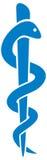 för ormstick för caduceus medicinskt symbol Arkivfoto