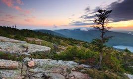 för ov-park för acadia er nationell solnedgång Royaltyfri Foto