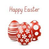 För påskhälsning för vektor lyckligt kort med ägg stock illustrationer
